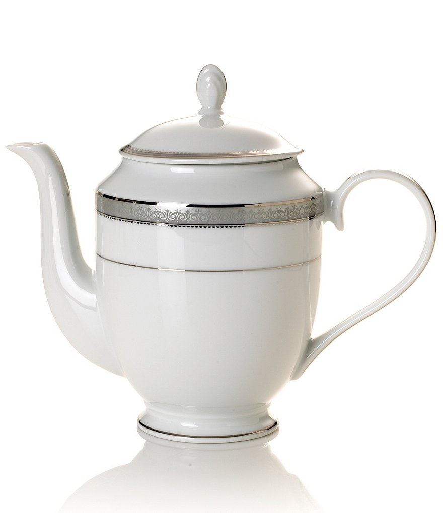 Mikasa Platinum Crown Filigree Platinum Porcelain Coffeepot