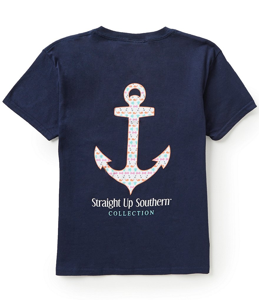Itsa Girl Thing Big Girls 7-16 Straight Up Southern Anchor Tee