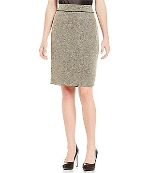 Kasper Tweed Straight Pencil Skirt