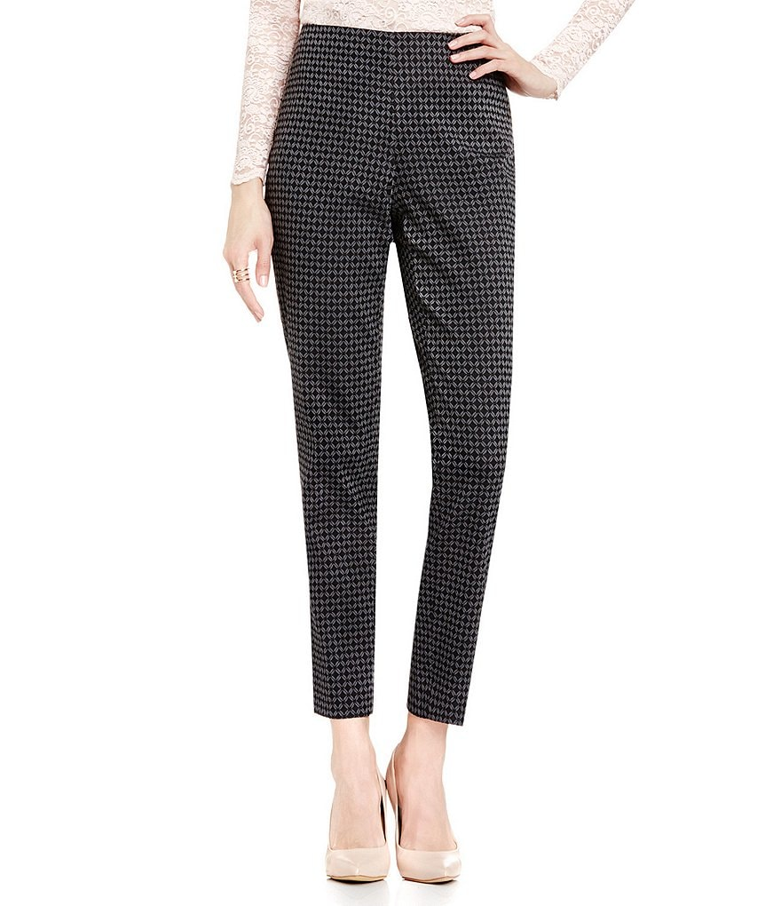 Vince Camuto Side Zip Victorian Jacquard Skinny Pant