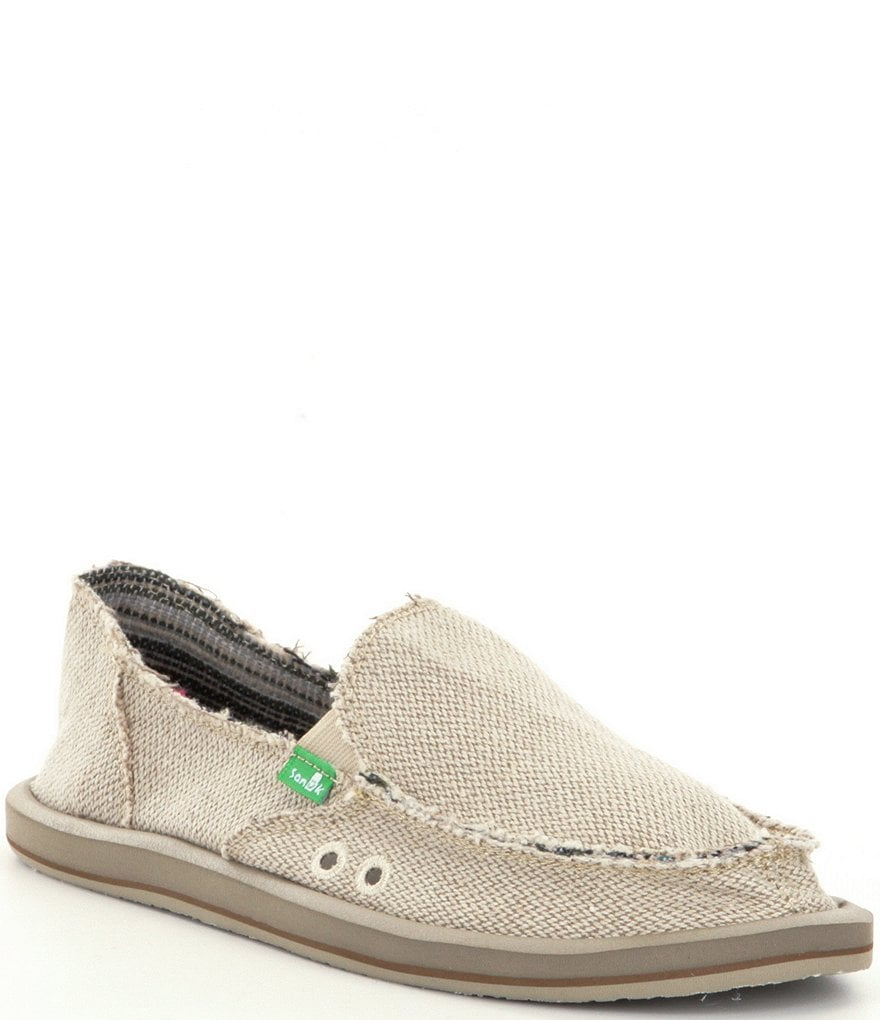 sanuk donna hemp slip on shoes dillards