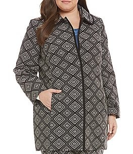 Kasper Plus Geometric Jacquard Topper Jacket Image