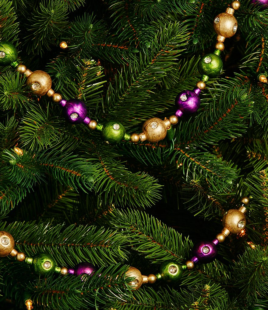 Trimsetter Cheers Collection Glass Ball Garland