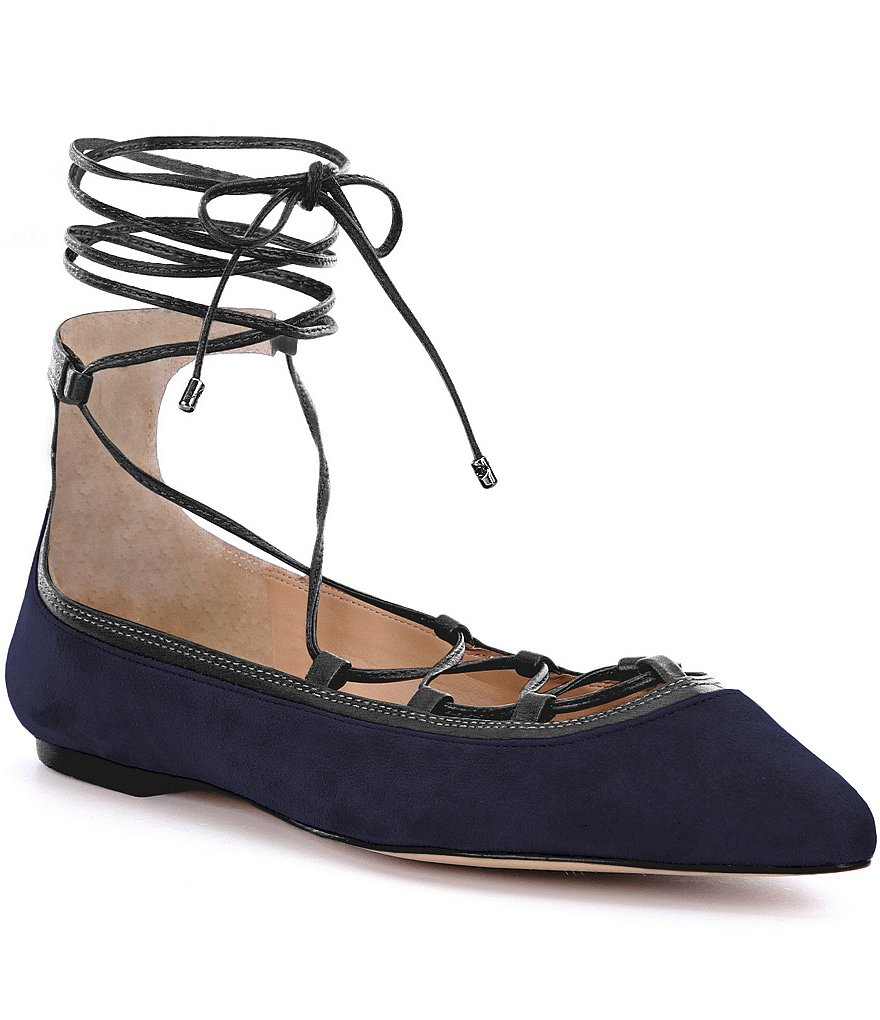Antonio Melani Willeah Suede Lace-Up Flats