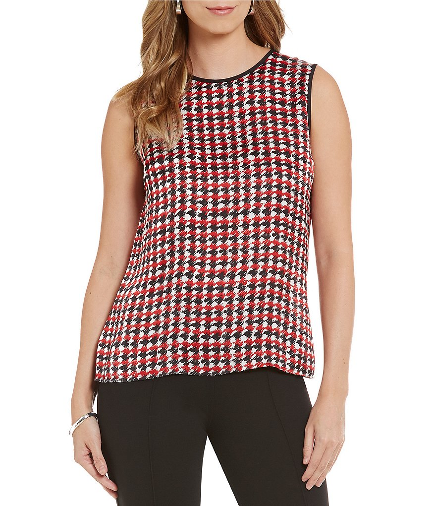 Kasper Sleeveless Printed Top