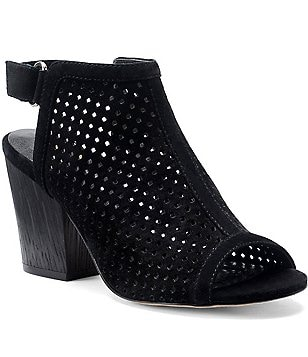 Isola Women´s Lora Perforated Suede Block Heel Peep Toe Shooties