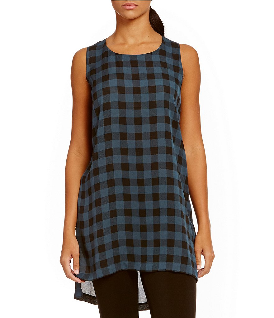 Eileen Fisher Scoop Neck Sleeveless Hi-Low Tunic