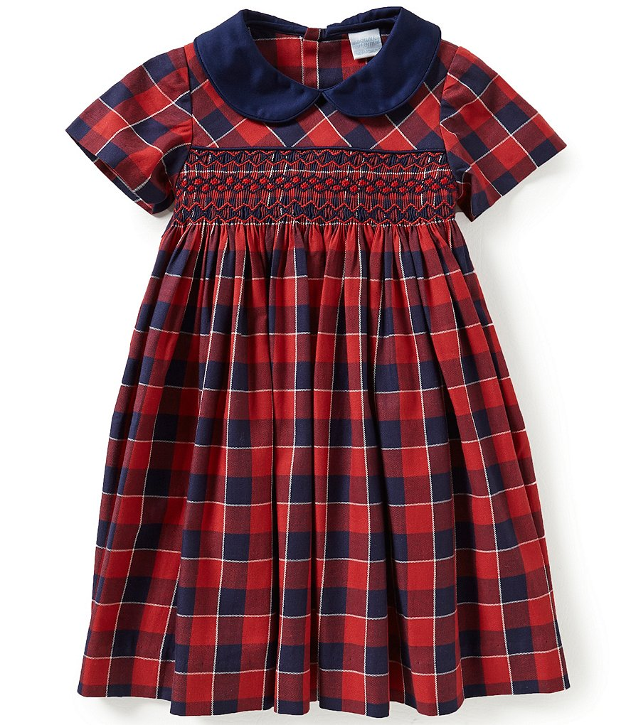 Edgehill Collection Little Girls 2T-4T Plaid Smocked Dress