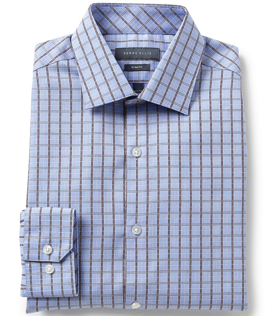 Original Penguin Heritage Slim-Fit Spread-Collar Checked Dress Shirt