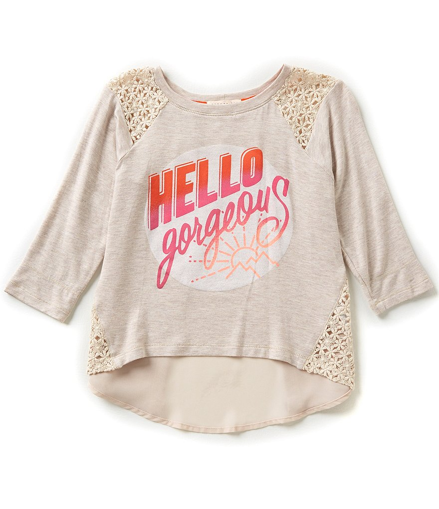 Copper Key Big Girls 7-16 Hello Gorgeous Knit Screen Tee