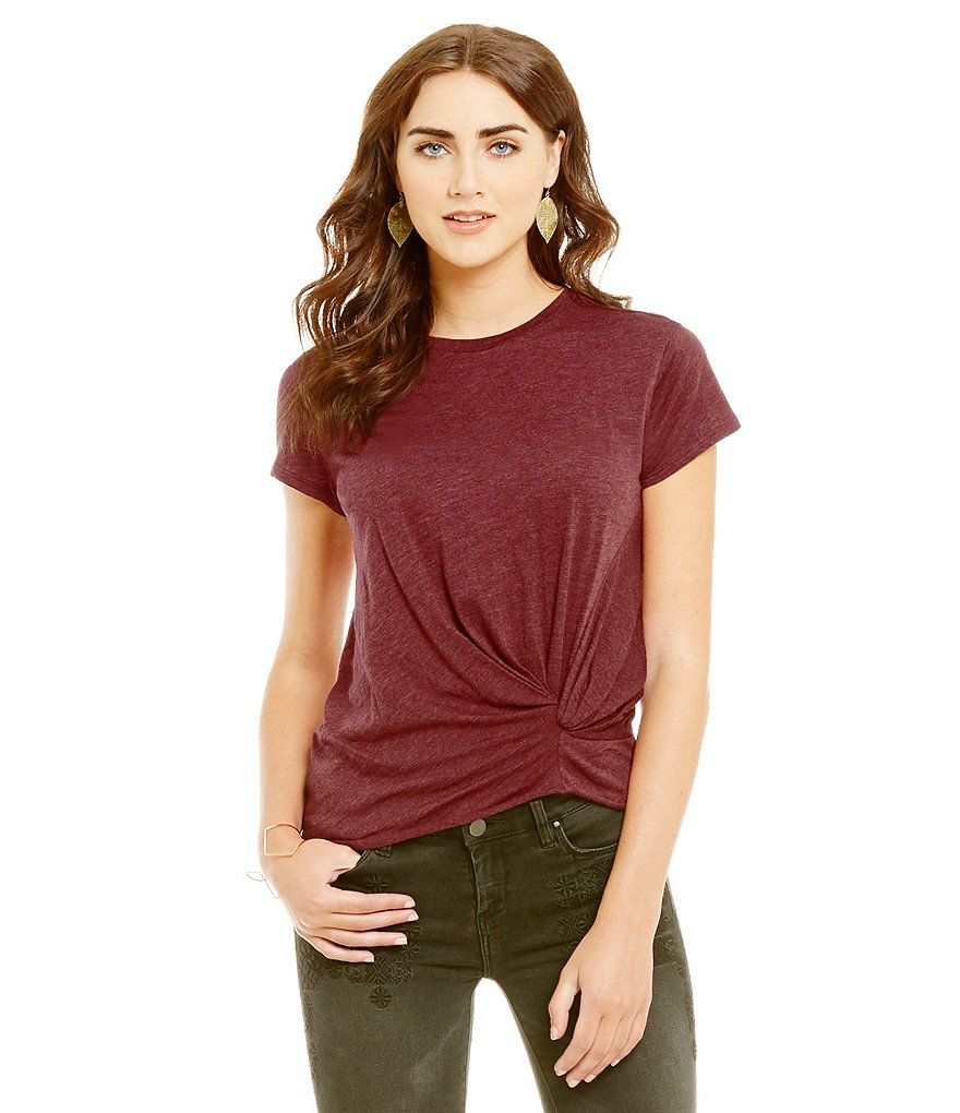 Chelsea & Violet Solid Twist Top