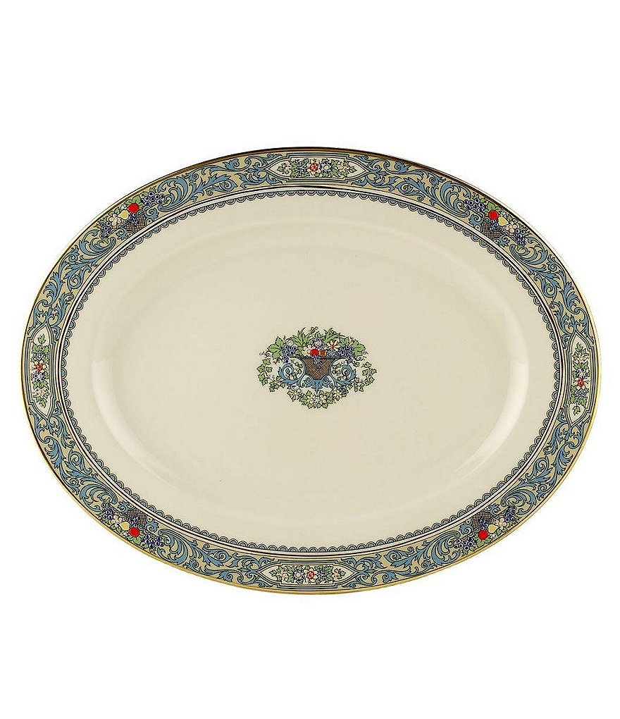 Lenox Presidential Collection Autumn Floral Fruit Basket Oval Platter