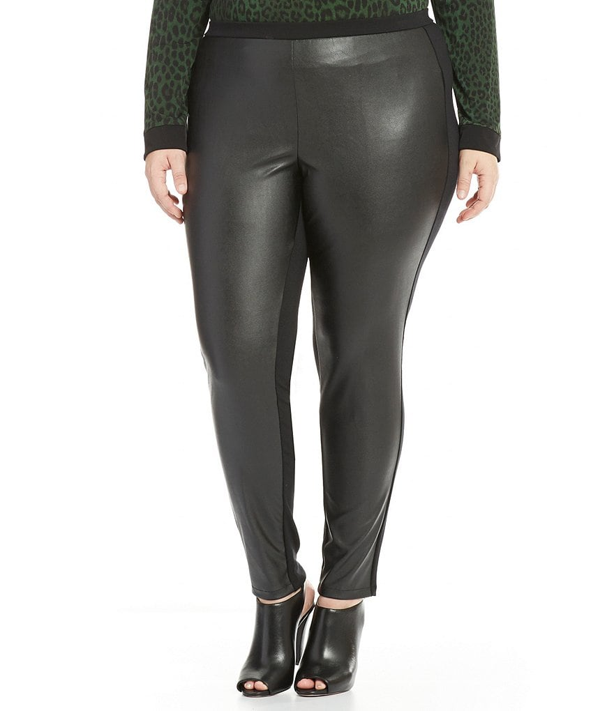 MICHAEL Michael Kors Plus Faux Leather Front Ponte Knit Legging