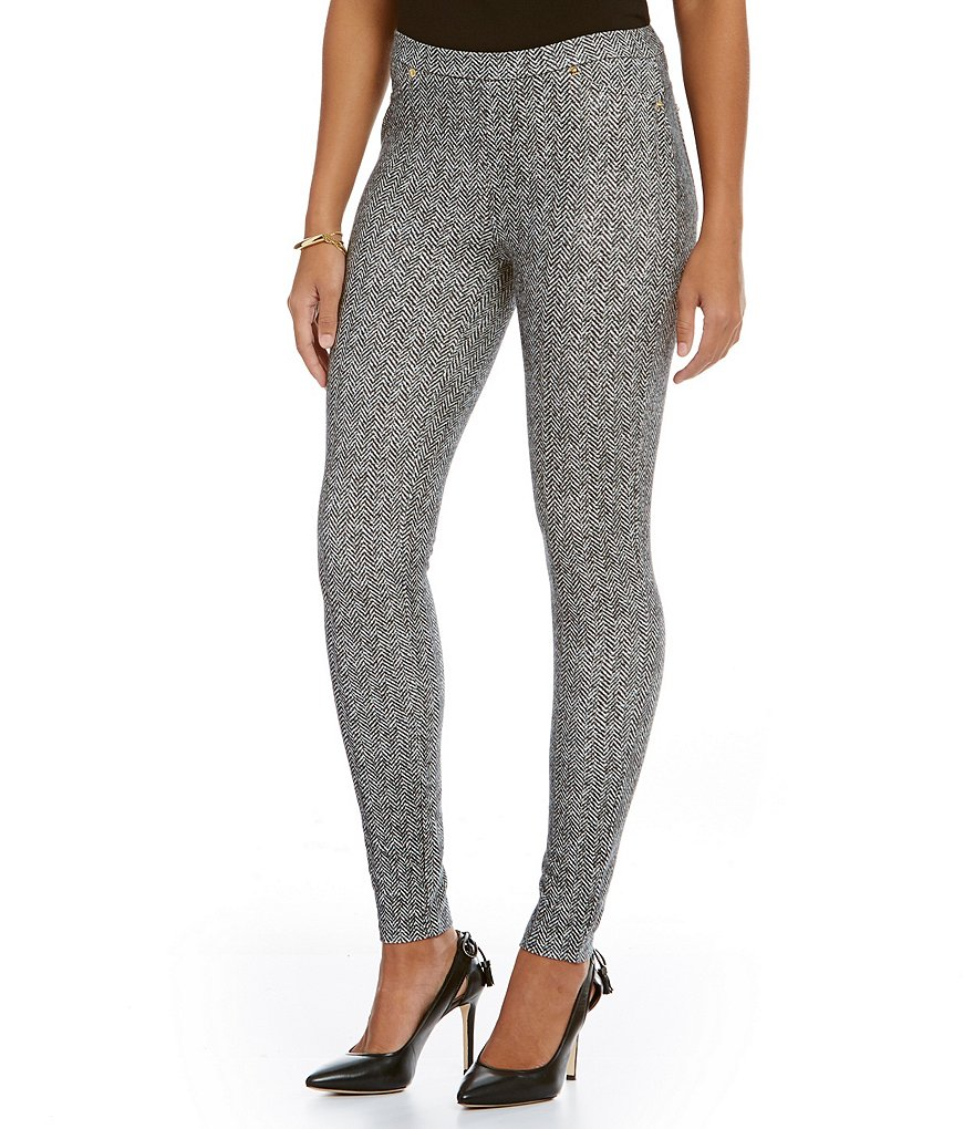 MICHAEL Michael Kors Desert Tweed Print Stretch Twill Knit Leggings