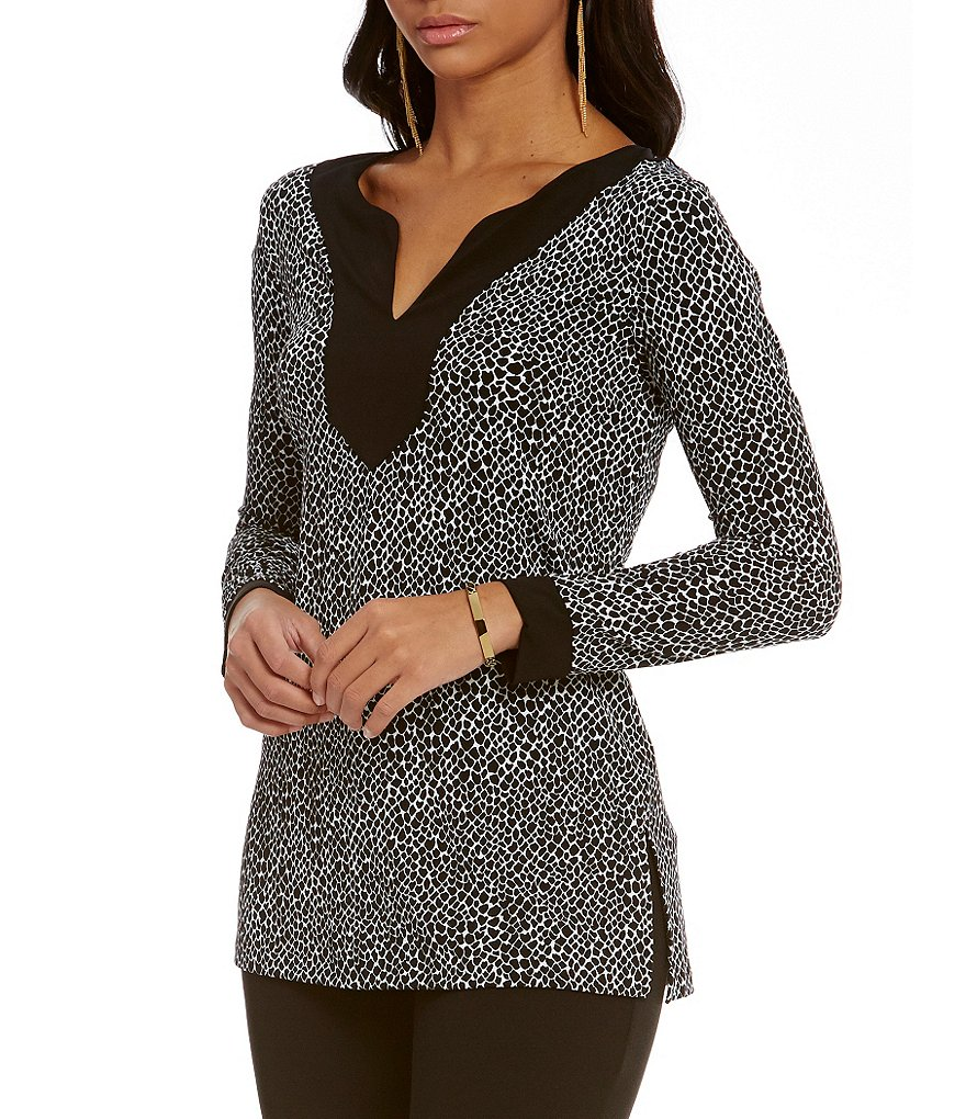 MICHAEL Michael Kors Graphic Scale Print Matte Jersey Tunic