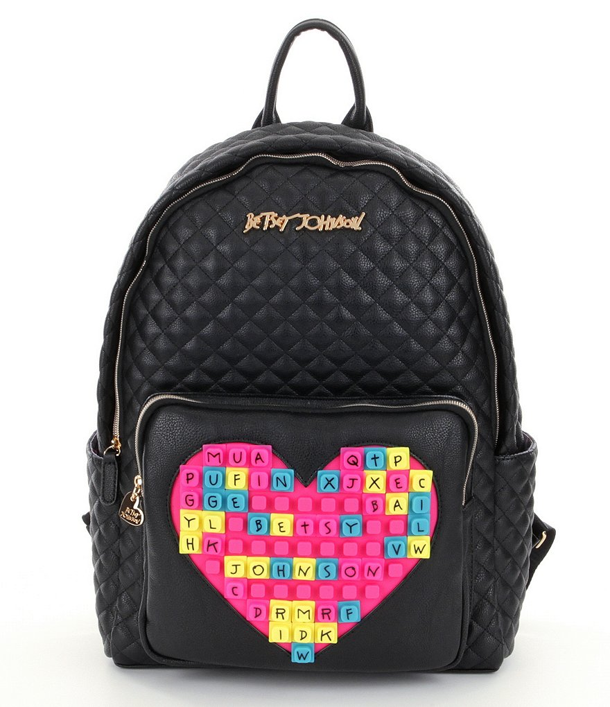 Betsey Johnson Buy A Vowel Customizable Quilted Backpack