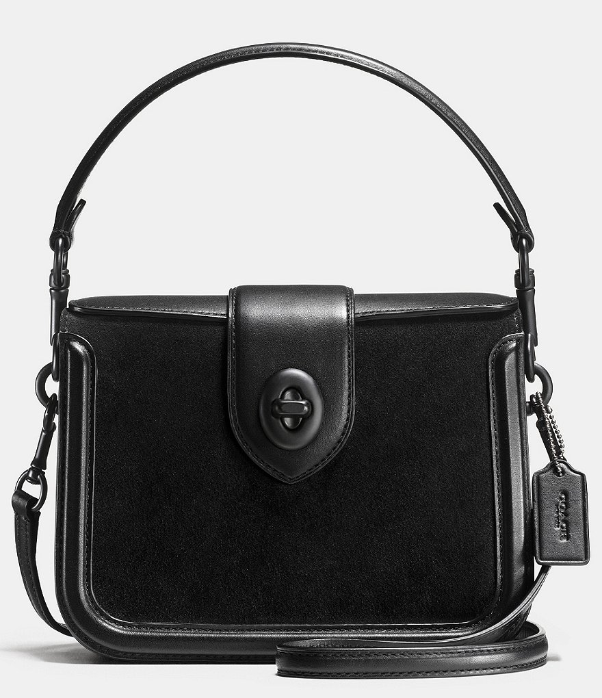 COACH PAGE TOP HANDLE CROSSBODY IN MIXED LEATHER