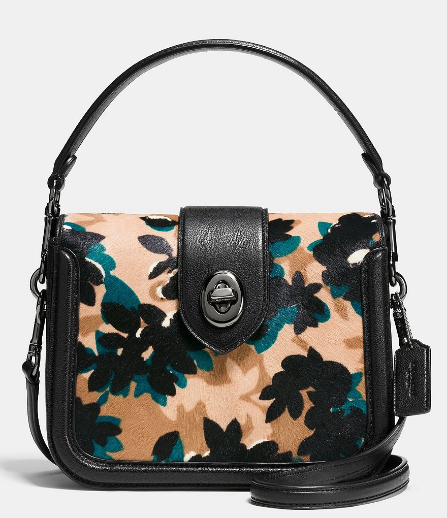 COACH PAGE TOP HANDLE CROSSBODY IN PRINTED HAIRCALF