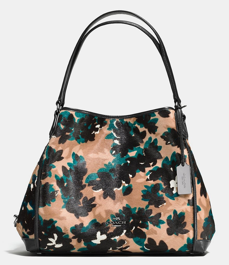COACH EDIE 31 SHOULDER BAG IN PRINTED HAIRCALF