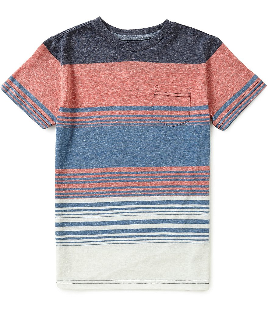 First Wave Big Boys 8-20 Striped Short-Sleeve Tee