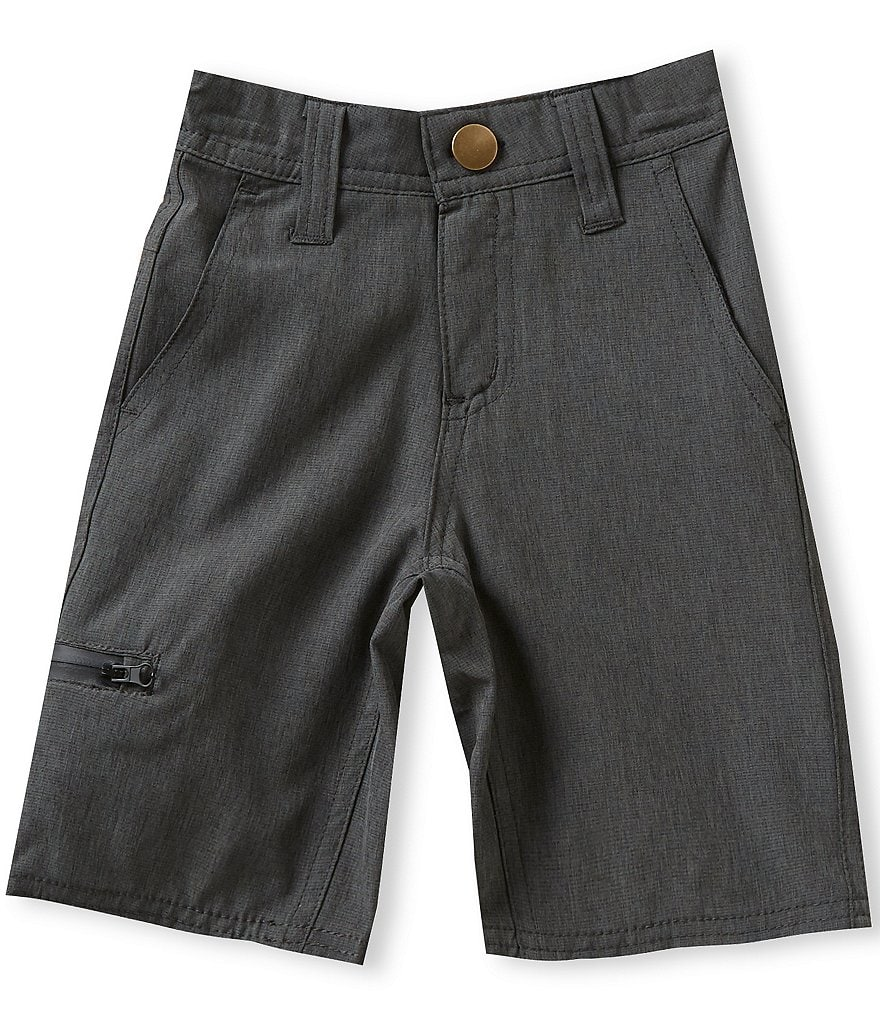 First Wave Little Boys 2T-7 Flat-Front Shorts