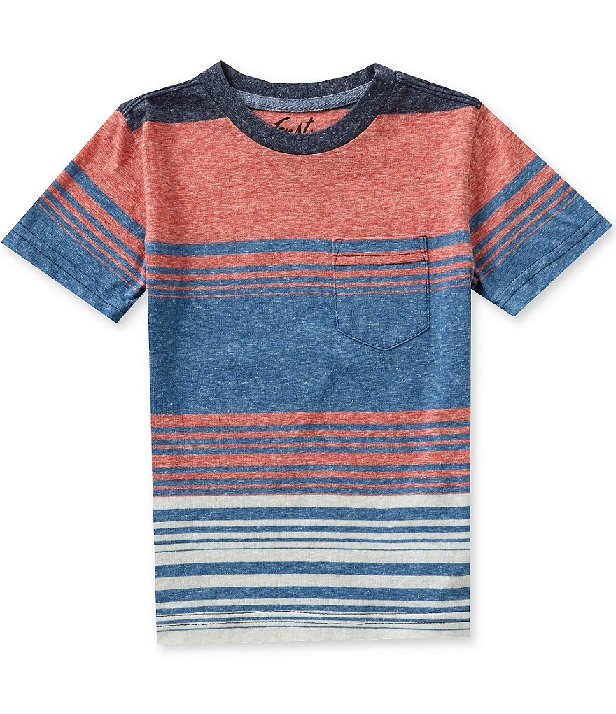 First Wave Little Boys 2T-7 Striped Short-Sleeve Tee