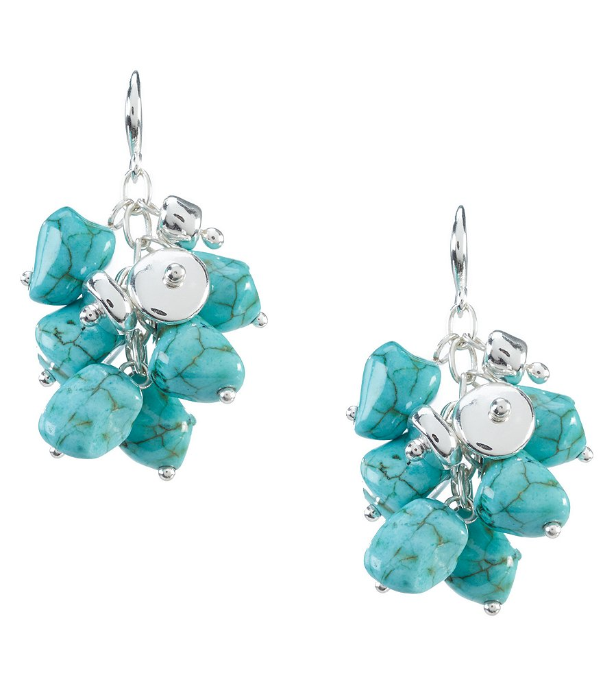 Kennedy Row Turquoise Cluster Earrings