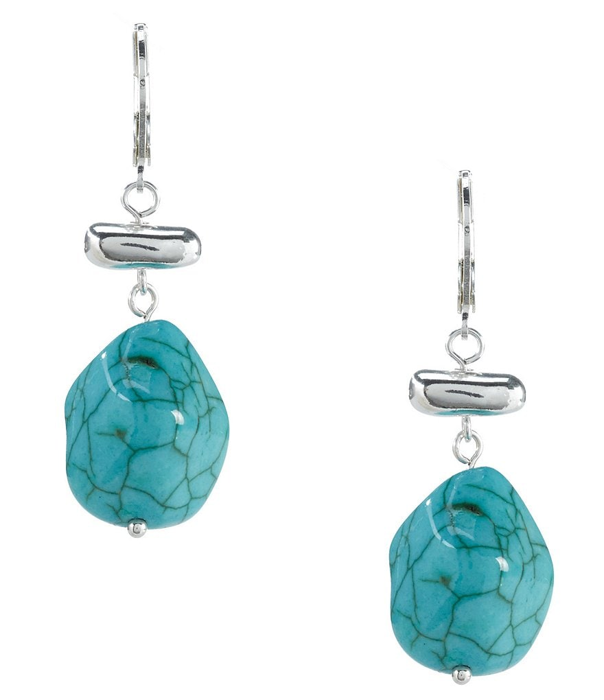 Kennedy Row Turquoise Pebble Drop Earrings