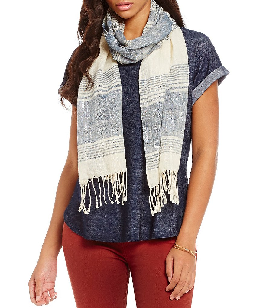 Soulmates Knit Denim Scarf Top