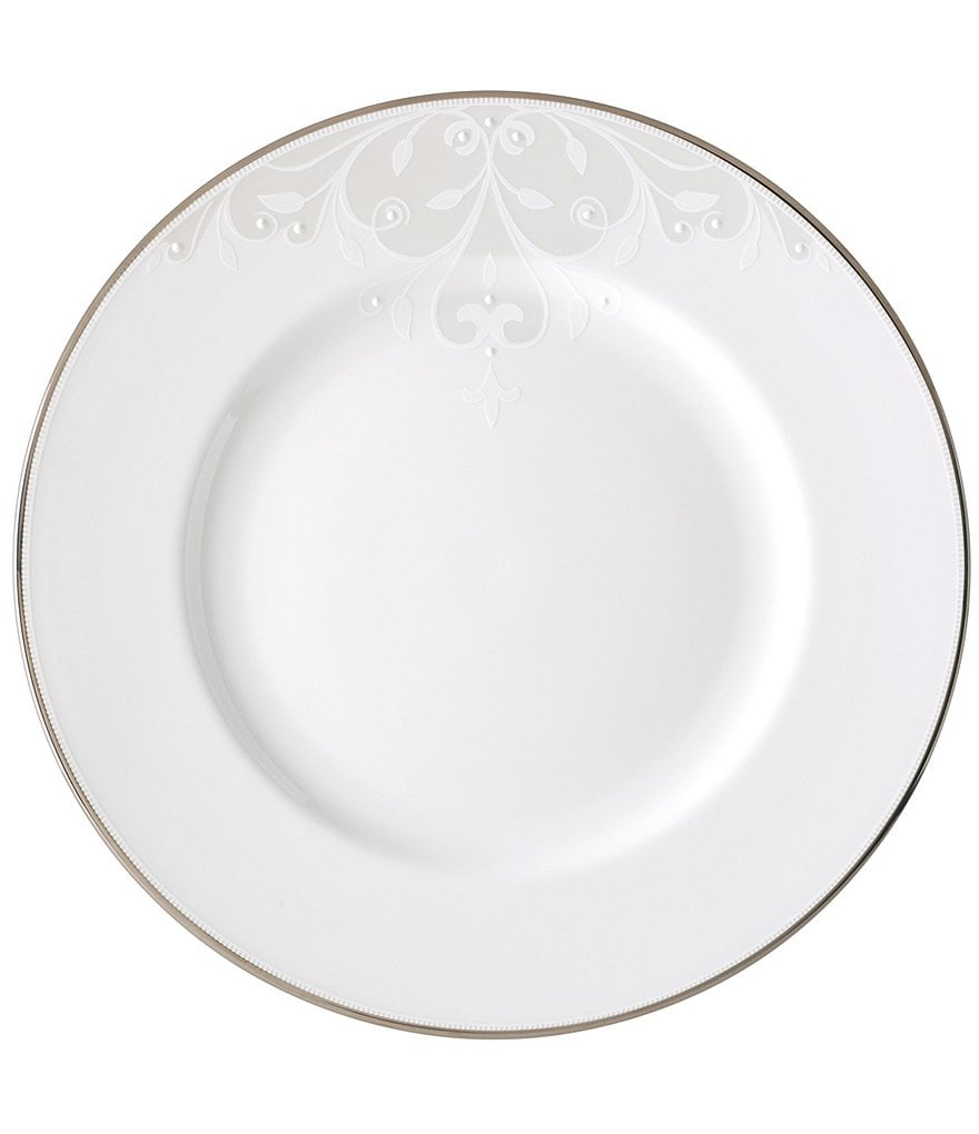 Lenox Opal Innocence Scroll Platinum Bone China Dinner Plate