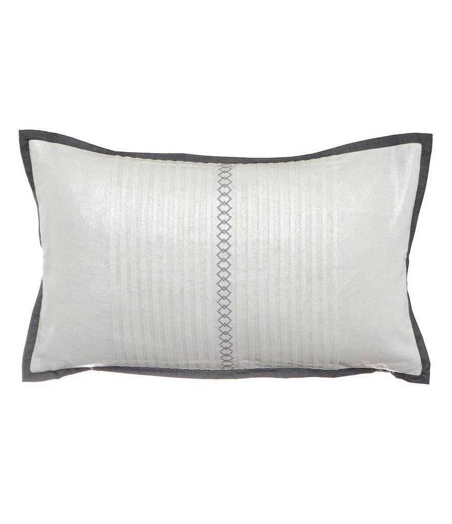 candice OLSON Finesse Diamond-Embroidered Metallic Breakfast Pillow
