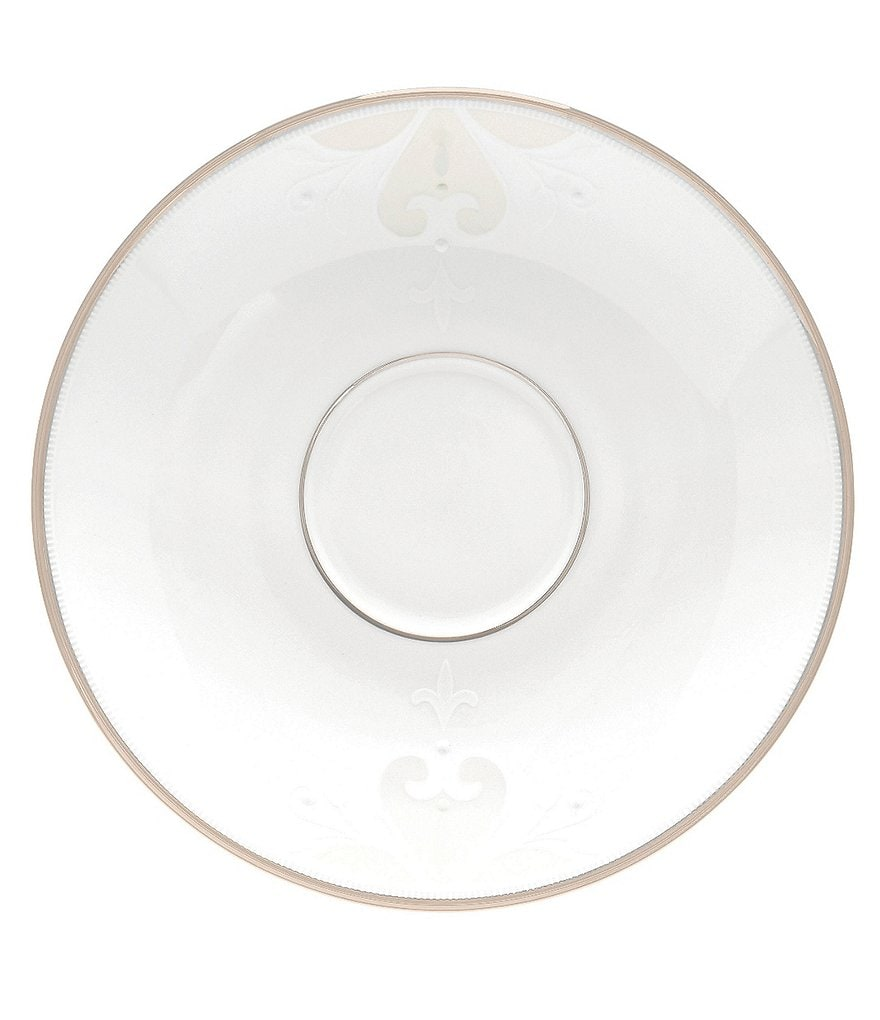 Lenox Opal Innocence Scroll Platinum Bone China Saucer