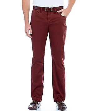 Perry Ellis Slim-Fit Flat-Front Stretch Pants