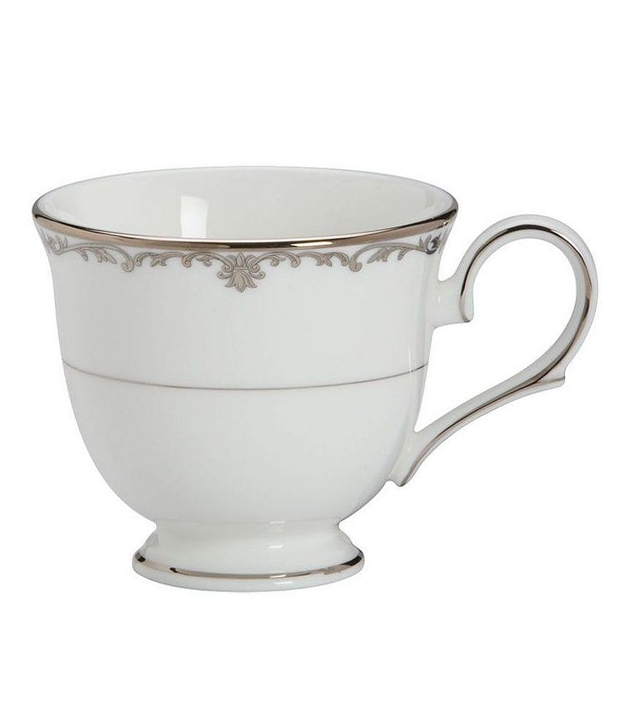 Lenox Coronet Platinum Scroll & Leaf Handcrafted China Cup