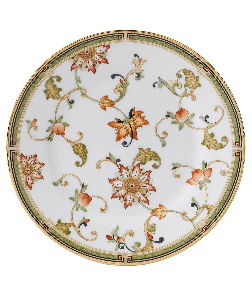 Wedgwood Oberon Chinoiserie Vine & Floral Gold Bone China Accent Salad Plate