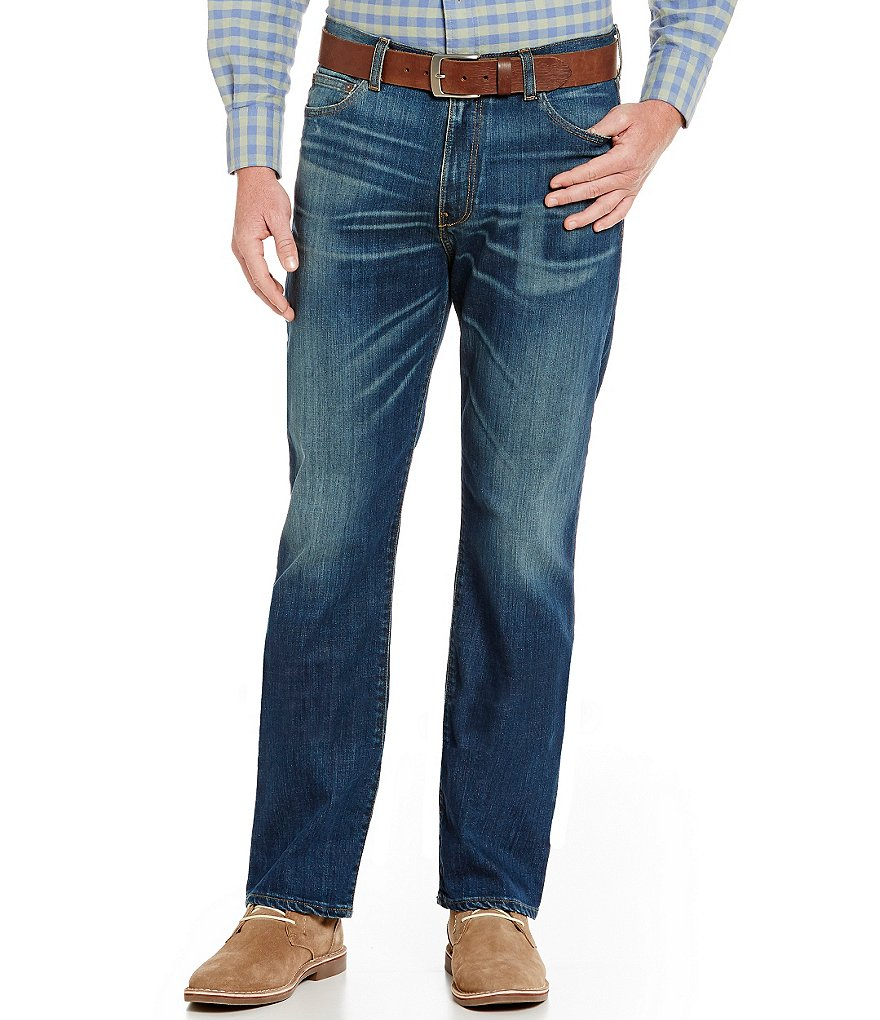 Cremieux Jeans Whiskered Straight-Fit Jeans