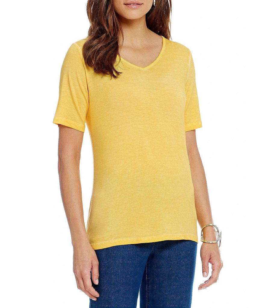 Westbound Elbow Sleeve V-Neck Pullover Top
