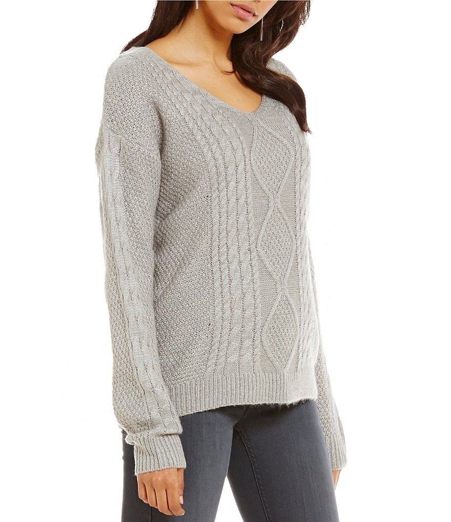 RD Style Chunky Cable Knit Sweater