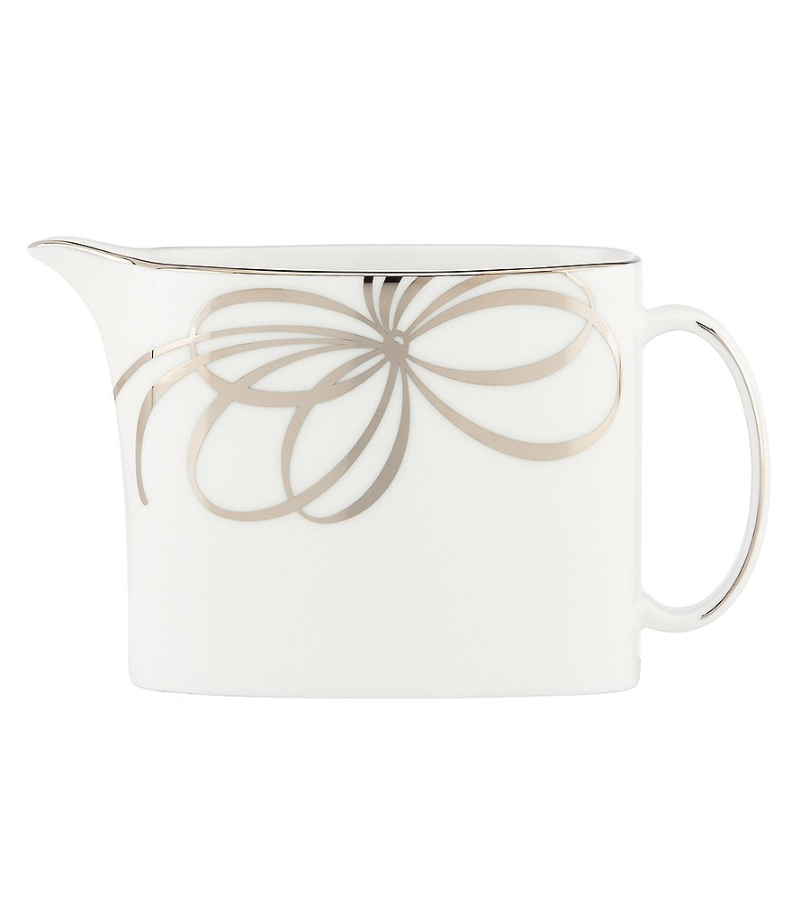 kate spade new york Belle Boulevard Bow Platinum Creamer