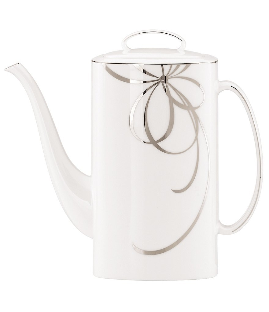 kate spade new york Belle Boulevard Bow Platinum Coffeepot