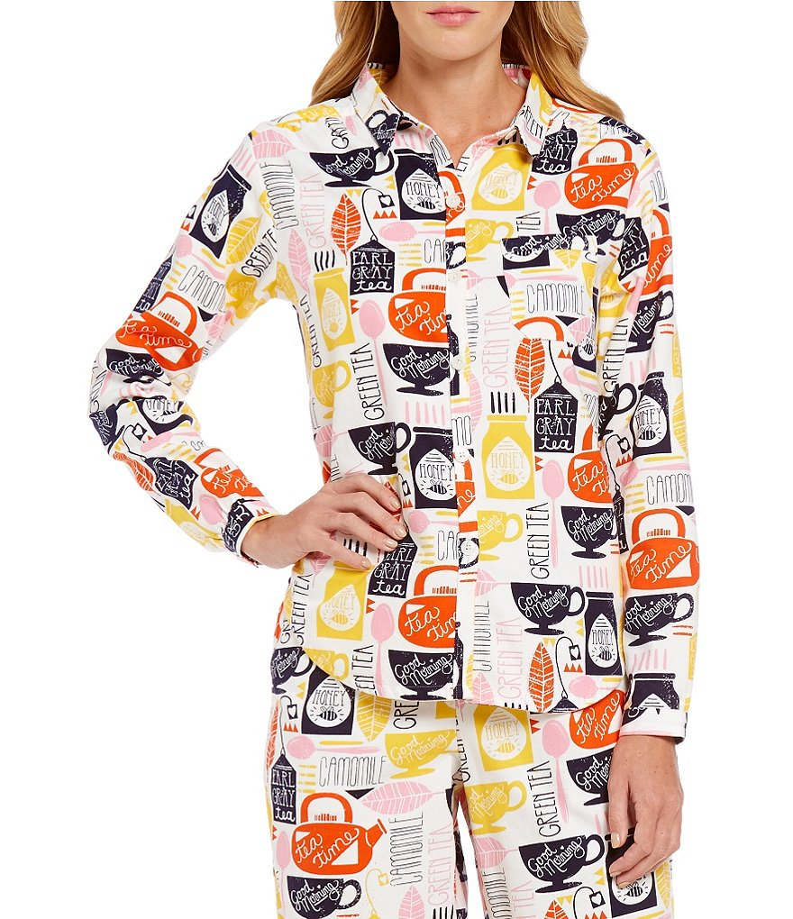 Sleep Sense Tea Time Flannel Sleep Top