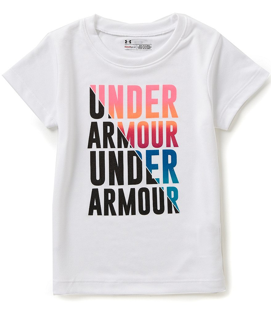 Under Armour Little Girls 2T-6X Favorites Short-Sleeve Tee