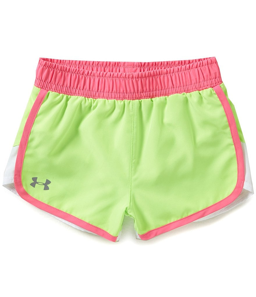 Under Armour Little Girls 2T-6X Fast Lane Colorblock Shorts