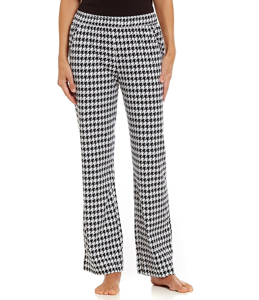 Sleep Sense Petite Houndstooth Jersey Sleep Pants
