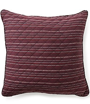 Cremieux Spencer Striped & Diamond Patterned Square Pillow