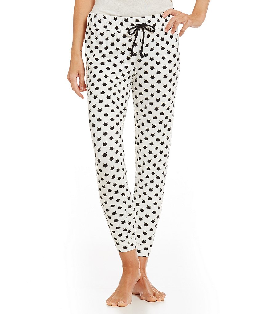 Jasmine & Ginger Cat Face-Print Sleep Pants