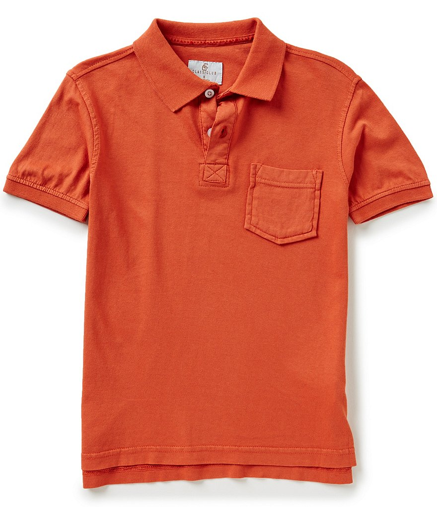 Class Club Big Boys 8-20 Solid Polo Shirt