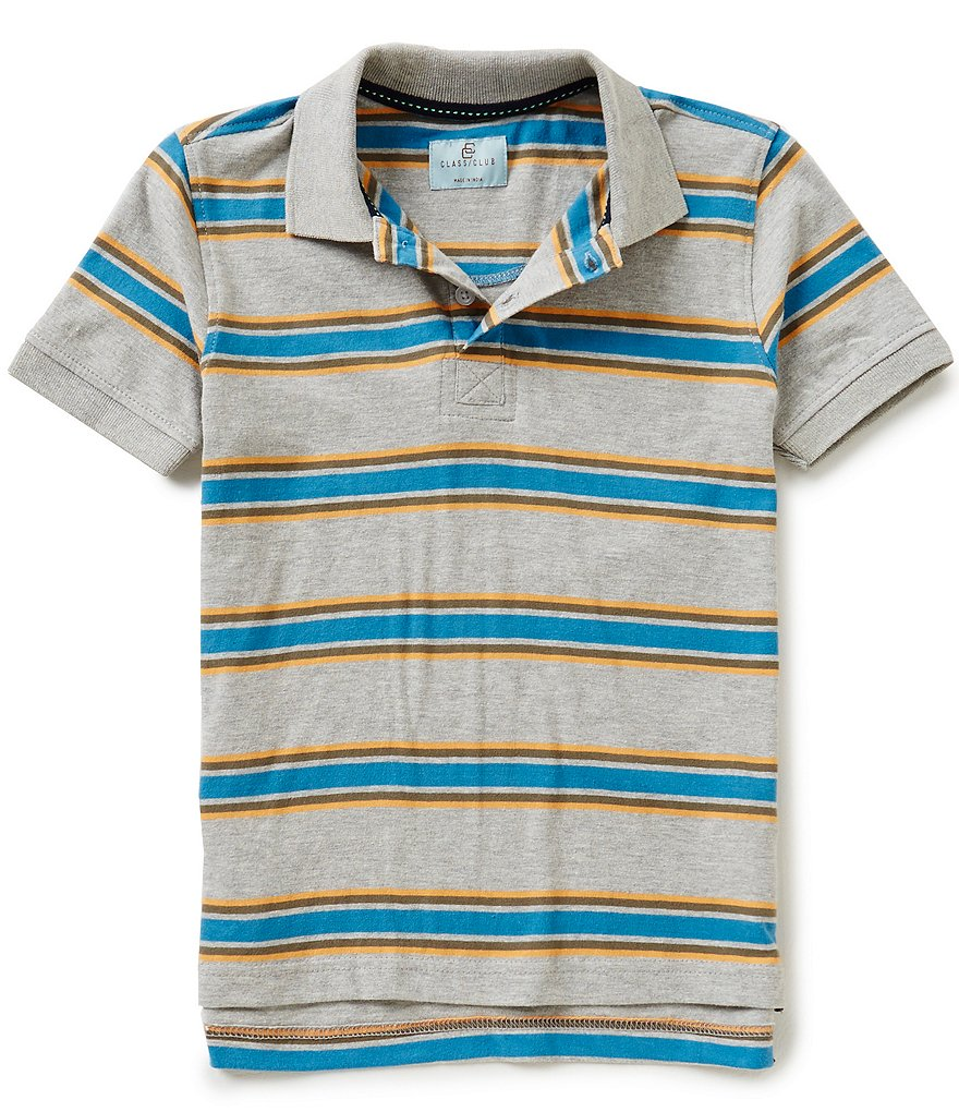 Class Club Big Boys 8-20 Striped Polo Shirt