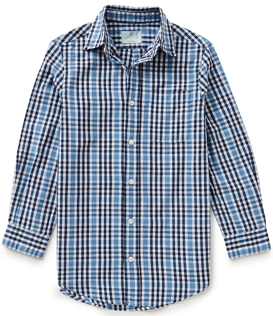 Class Club Big Boys 8-20 Plaid Woven Shirt