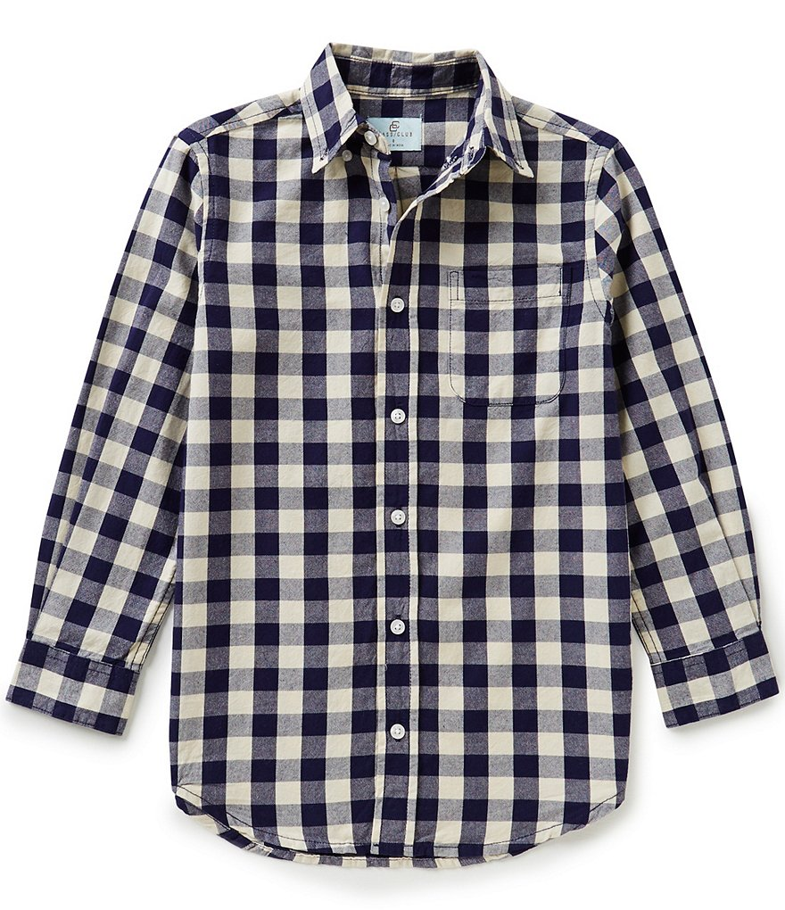 Class Club Big Boys 8-20 Buffalo Check Woven Shirt